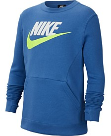 Nike Big Boys Club Fleece Logo Sweatshirt