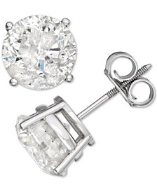 Diamond Stud Earrings (4 ct. t.w.) in 14k White Gold