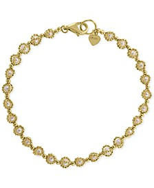 EFFY® Cultured Freshwater Pearl (3mm) Link Bracelet in 18k Gold-Plated Sterling Silver