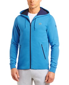 Lacoste Men's Novak Djokovic Relaxed-Fit Brushed Fleece Logo Hoodie
