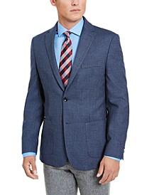 Men's Modern-Fit THFlex Stretch Blue Micro-Dot Sport Coat