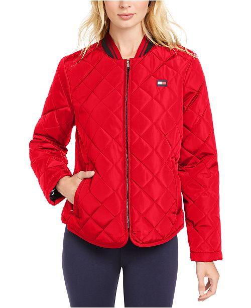 Tommy Hilfiger Quilted Bomber Zip Jacket