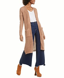 Juniors' Lace-Up Open-Front Duster