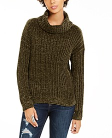 Juniors' Chenille Turtleneck Sweater