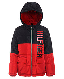Tommy Hilfiger Little Boys Jack Hooded Colorblocked Jacket