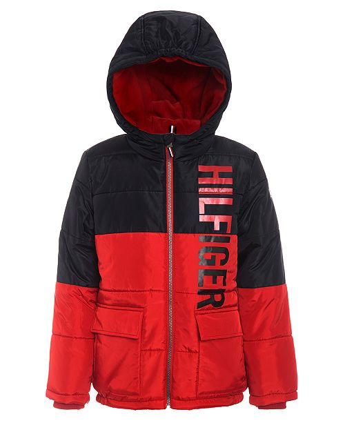 Tommy Hilfiger Little Boys Jack Hooded Colorblocked Jacket