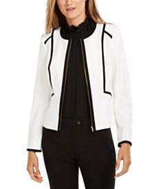 Calvin Klein Piped Zip-Front Jacket