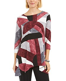 Petite Printed Swing Top, Created for Macy's
