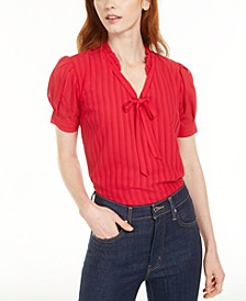 Ruffled Tie-Front Top, Created for Macy's
