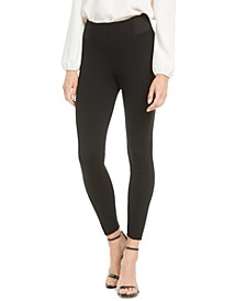 Elastic-Panel Skinny Leggings