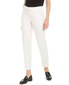 Anne Klein Cropped Straight-Leg Pants
