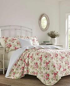 Laura Ashley Willa Blush Pink Quilt Set, Full/Queen