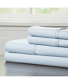 Home Brushed Microfiber Queen Sheets Set- 4 Piece Hypoallergenic Bed Linens with Deep Pocket Fitted Sheet and Embossed Design