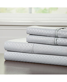 Baldwin Home Brushed Microfiber Queen Sheets Set- 4 Piece Hypoallergenic Bed Linens with Deep Pocket Fitted Sheet and Embossed Design