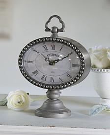 VIP Home & Garden Metal Oval Table Clock
