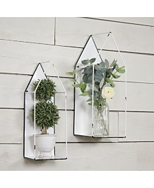VIP Home & Garden 2-Piece Metal Wall Plant Holders