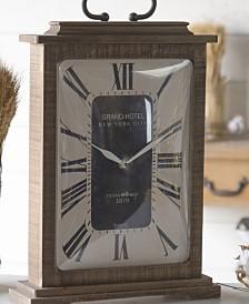 VIP Home & Garden Wood Rectangular Table Clock