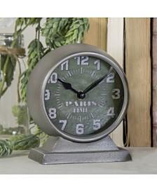 "VIP Home & Garden Metal ""Paris"" Table Clock"