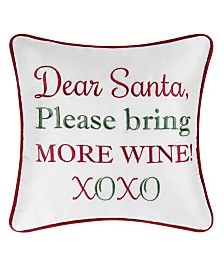 C&F Home More Wine Embroidered Pillow