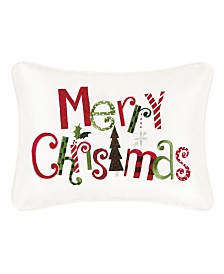 C&F Home Merry Christmas Embroidered Pillow