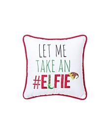 Elfie Embroidered Pillow