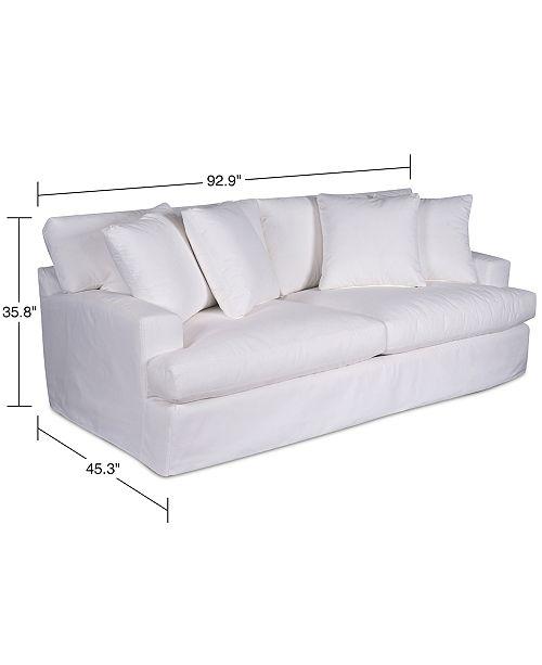Performance Fabric Slipcover Sofa