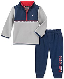 Baby Boys 2-Pc. Microfleece Jacket & Jogger Pants Set