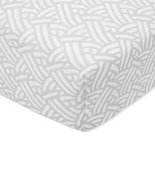 Baby Boys & Girls Pasture Printed Cotton Crib Sheet