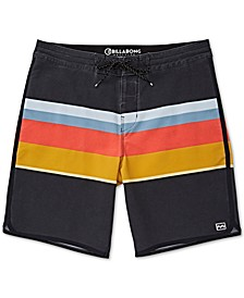 "Men's Striped 19"" Board Short"