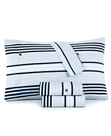 Ocean Stripe Full Sheet Set