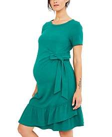 A Pea In The Pod Maternity Ruffled Dress
