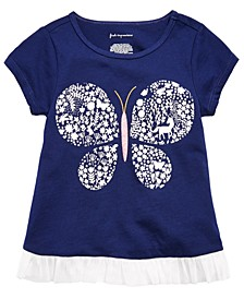 Baby Girls Cotton Butterfly-Print T-Shirt, Created For Macy's