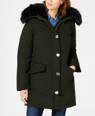 Faux-Fur Trim Down Parka Coat, Created for Macy's