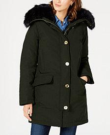 Michael Michael Kors Faux-Fur Trim Down Parka Coat, Created for Macy's