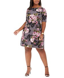 Connected Plus Size Floral Dress