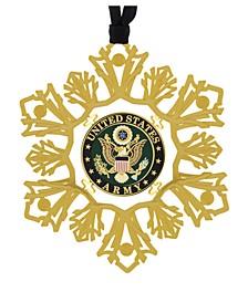 U.S. Army Snowflake Ornament