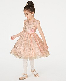 Toddler Girls Glitter Animal-Print Dress