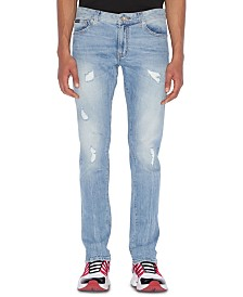 A|X Armani Exchange Men's Ripped Skinny Jeans