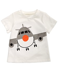 First Impressions Baby Boys Airplane-Print Cotton T-Shirt, Created for Macy's