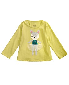 First Impressions Baby Girls Deer Dancer-Print Cotton T-Shirt, Created for Macy's