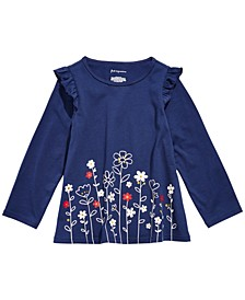 Baby Girls Flower Border Tunic T-Shirt, Created For Macy's