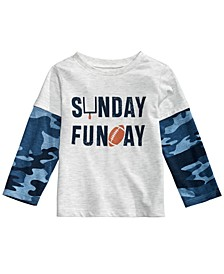 Baby Boys Layered-Look Sunday Funday T-Shirt, Created for Macy's