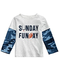 First Impressions Toddler Boys Layered-Look Sunday Funday T-Shirt, Created for Macy's