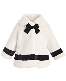 Baby Girls Bow Faux-Fur Coat, Created For Macy's