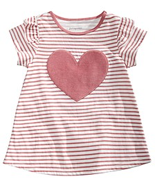 Toddler Girls Striped Heart Cotton T-Shirt, Created for Macy's