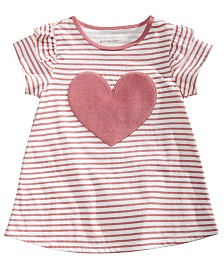 First Impressions Toddler Girls Striped Heart Cotton T-Shirt, Created for Macy's