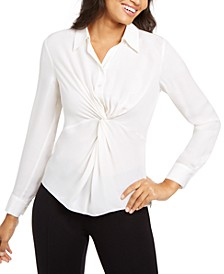 Mary Jane Twisted Silk Blouse