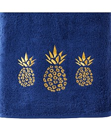 Saturday Knight Ltd Gilded Pineapple Bath Towel