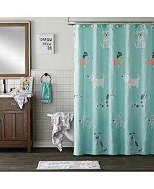 Ltd Scribble Pup Shower Curtain