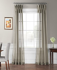 "Exclusive Fabrics Furnishings Signature Sheer Curtain 108"" x 50"" Curtain Panel"